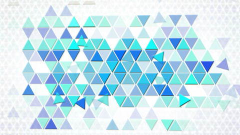 blue triangles geometric background loop Animation