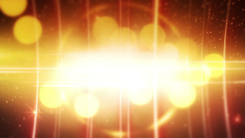yellow glowing circles loopable background Stock Video Footage
