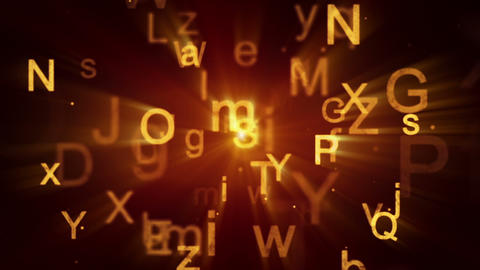 flying shiny letters loopable background Stock Video Footage