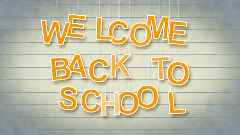 welcome back to school with luma matte Stock Video Footage