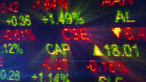 stock exchange data board close-up Stock Video Footage