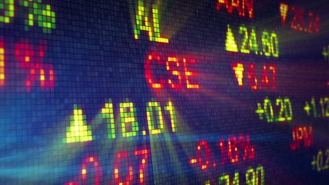 Stock Exchange Data Board Close-up stock footage