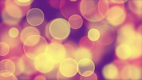 delicate pink yellow circle bokeh lights loop back Stock Video Footage