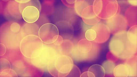 delicate pink yellow circle bokeh lights loop back Animation