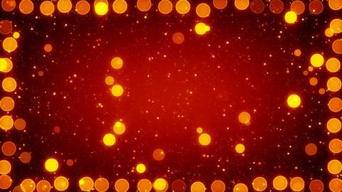 orange christmas lights seamless loop background Stock Video Footage