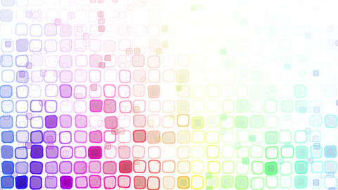 rainbow liquid squares loopable pattern animation Stock Video Footage