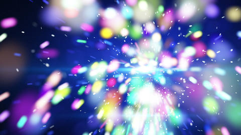 blue christmas sparkler close-up loop animation Animation