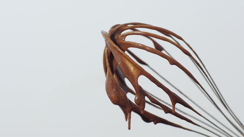 Wire whisk in chocolate Footage