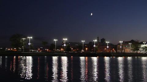 Night view of Yekaterinburg Stock Video Footage