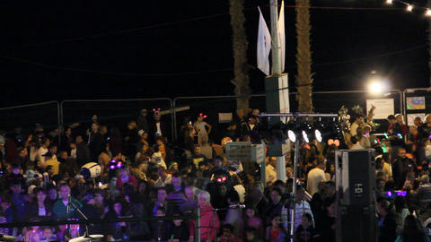 A crowd of people on Israel 's Independence Day Stock Video Footage
