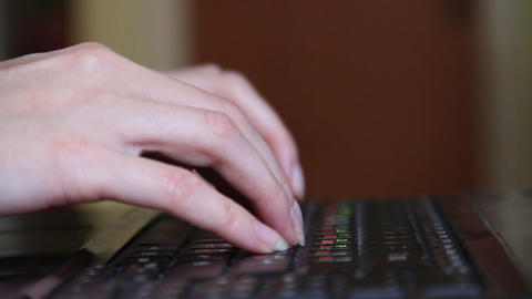 to use the keyboard Stock Video Footage