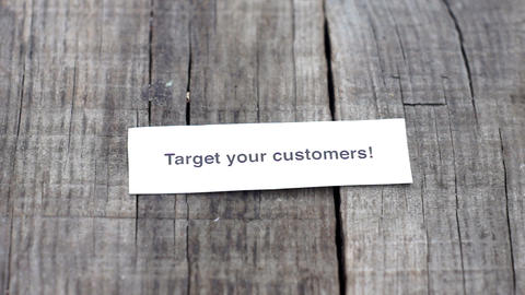 Target your Customers Stock Video Footage