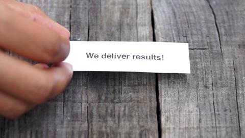 We deliver results Footage