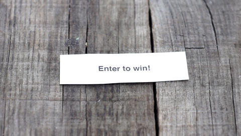 Enter To Win stock footage