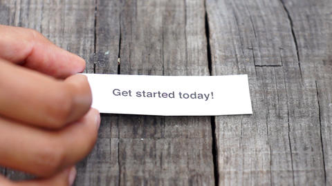 Get started today Stock Video Footage