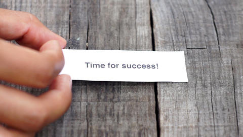 Time for success Stock Video Footage