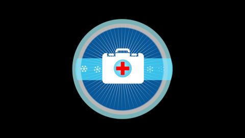Emergency Medical Kit Stock Video Footage
