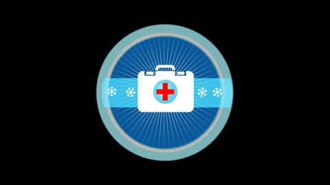Emergency Medical Kit stock footage