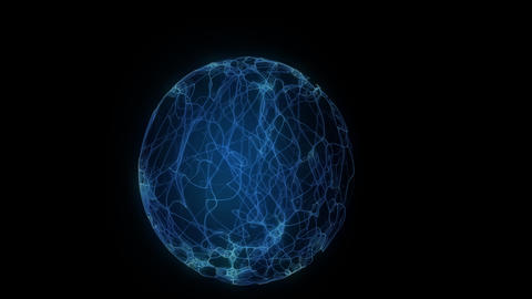 glow Energy Ball 1 Stock Video Footage