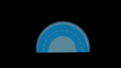 Half Circle Stock Video Footage