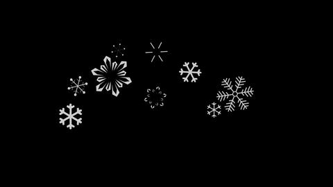snowflake falling Stock Video Footage