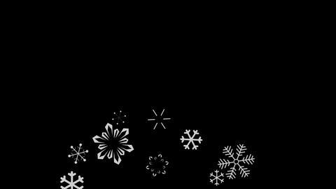 snowflake falling Stock Video Footage