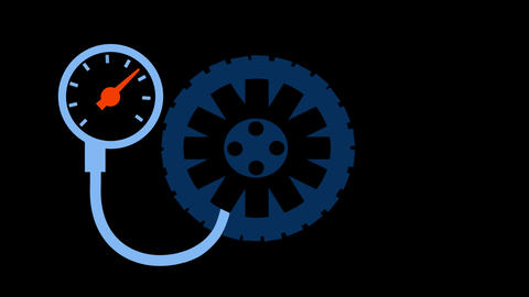 Tire Pressure Stock Video Footage