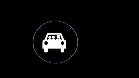 Winter Driving graphic Ani Stock Video Footage