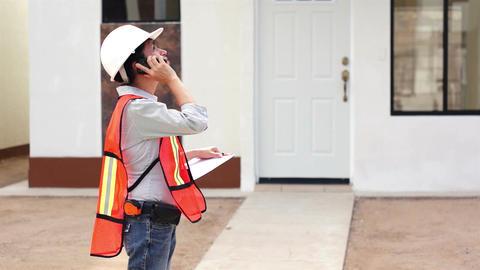 Female Construction Boss Phone Footage
