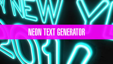 Neon Text Generator After Effects Template