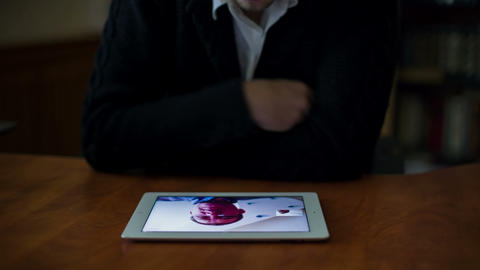 Young Businessman Meeting By Using Tablet 1 Stock Video Footage