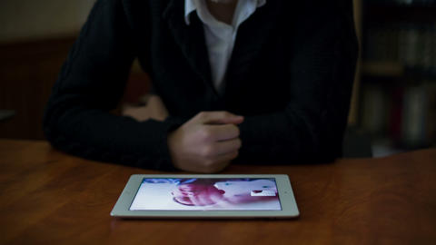 Young Businessman Meeting By Using Tablet 1 Footage