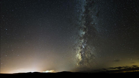 4k UHD galaxy milky way turn right 11101 Stock Video Footage