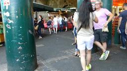 A crowded day at London Borough Market.(LONDON Bor ビデオ