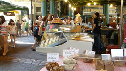 a bread stall at LONDON Borough Market (LONDON Bor Stock Video Footage