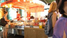 shot video while walking at London Borough Market Stock Video Footage