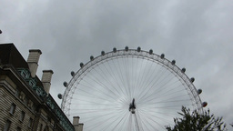 STREET SCENE NEAR LONDON EYE, UK (LONDON EYE 2a) Stock Video Footage