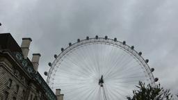 STREET SCENE NEAR LONDON EYE, UK (LONDON EYE 2a) Stock Video Footage