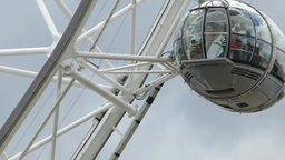 Closed-up view of London Eye passenger capsules, UK, London Footage