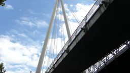 Underside view of Hungerford Bridge London(LONDON  Footage