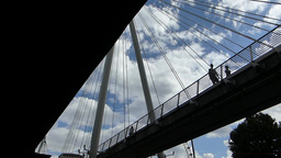 Underside view of Hungerford Bridge (LONDON Hunger Footage
