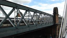 LONDON Hungerford Bridge 7b Stock Video Footage