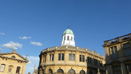 Sheldonian Theatre, Oxford University, UK(OXFORD S Stock Video Footage