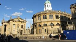 Sheldonian Theatre, Oxford University, UK(OXFORD S Stock Video Footage