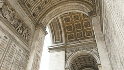 MURAL AND STONEWORK CARVINGS ON ARC DE TRIOMPHE.(P Stock Video Footage