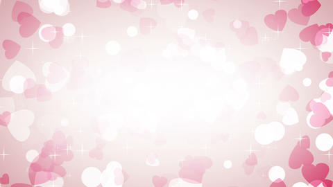 pink hearts frame loop background Stock Video Footage