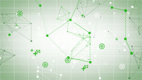 technology network loop green background Animation
