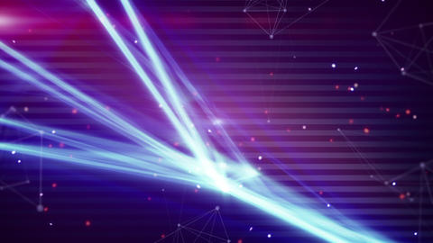technology network light stripes loop background Stock Video Footage
