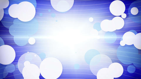 white blue circles growing loop Stock Video Footage