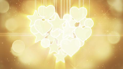 gold heart shape concept loop background luma matt Animation